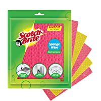 Scotch-Brite Sponge Wipe, Pack of 5 (Color May Vary)