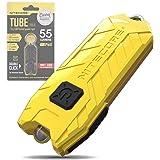 Nitecore Tube Keychain Light - USB Rechargeable 55 Lumens 9.6 g [New Version - 2021] [ Lemon ]