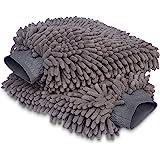 Amazon Basics Gant de lavage microfibre de luxe pour la voiture, Pack de 2