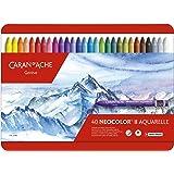 "Creative Art Materials""Caran D'Ache NeoColor II"" Wateroplosbare Wax Pastel Set, Multi-Colour, Pack van 40"