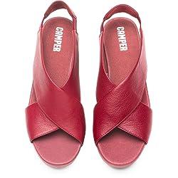 Camper Balloon Sandalias de Tal n Abierto para Mujer Rojo Medium Red 610 38 EU