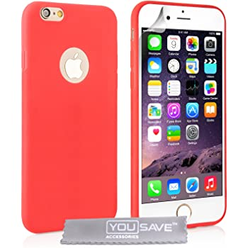 Yousave Accessories Coque iPhone 6 Etui Clair Silicone Gel Ultra Mince Housse: Amazon.fr: High-tech