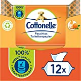 Cottonelle Feuchtes Toilettenpapier, Mein Spa Erlebnis - Kaschmir und Orangenöl, Biologisch Abbaubar, Plastikfrei, Wiedervers