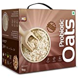 MuscleBlaze Probiotic Oats, Good For Gut Health, Healthy Breakfast Cereal For Adults, 1 kg