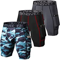 ZENGVEE 3 Pack Mens Compression Shorts Men Quick Dry Running Shorts Base Layer Sport Underwear for Men