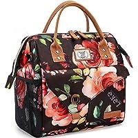 Lekesky Sac Isotherme Repas Grande Capacité 11L Fleurs, Bureau Lunch Bag Isotherme femme Pique-Nique Sac-pour Travail…