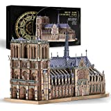 Piececool 3D Metal Jigsaw Puzzles for Adults - Notre Dame Cathedral Paris DIY 3D Metal Model Kit for Adults 382Pcs
