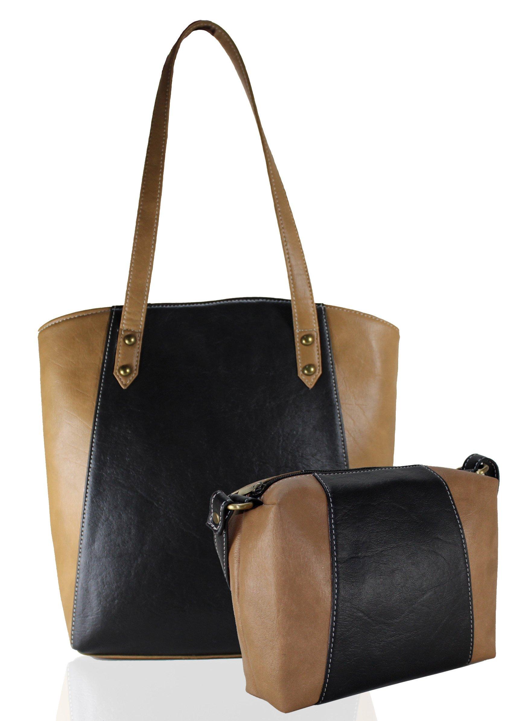 Fargo Motley PU Leather Women s   Girl s Shoulder Tote Handbag ... fac587e4a52b3