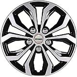 PRIGAN® Premium Quality, Black Silver 14 Inch Wheel Cover (Available in 12,13,14,15,16 Inch) Wheel Cap Universal Model (Press