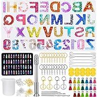 314 Pezzi Stampo in Resina con Lettere, Stampi in Resina Epossidica con 48 Paillettes di Colore, Kit di Stampo in…