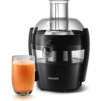 Philips Viva Collection HR1832/00 1.5-Litre400-Watt Juicer (Ink Black)
