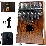 MOOZICA EQ Kalimba, Instrument kalimba électro-acoustique en bois de koa massif, piano à queue marimba avec instrument…