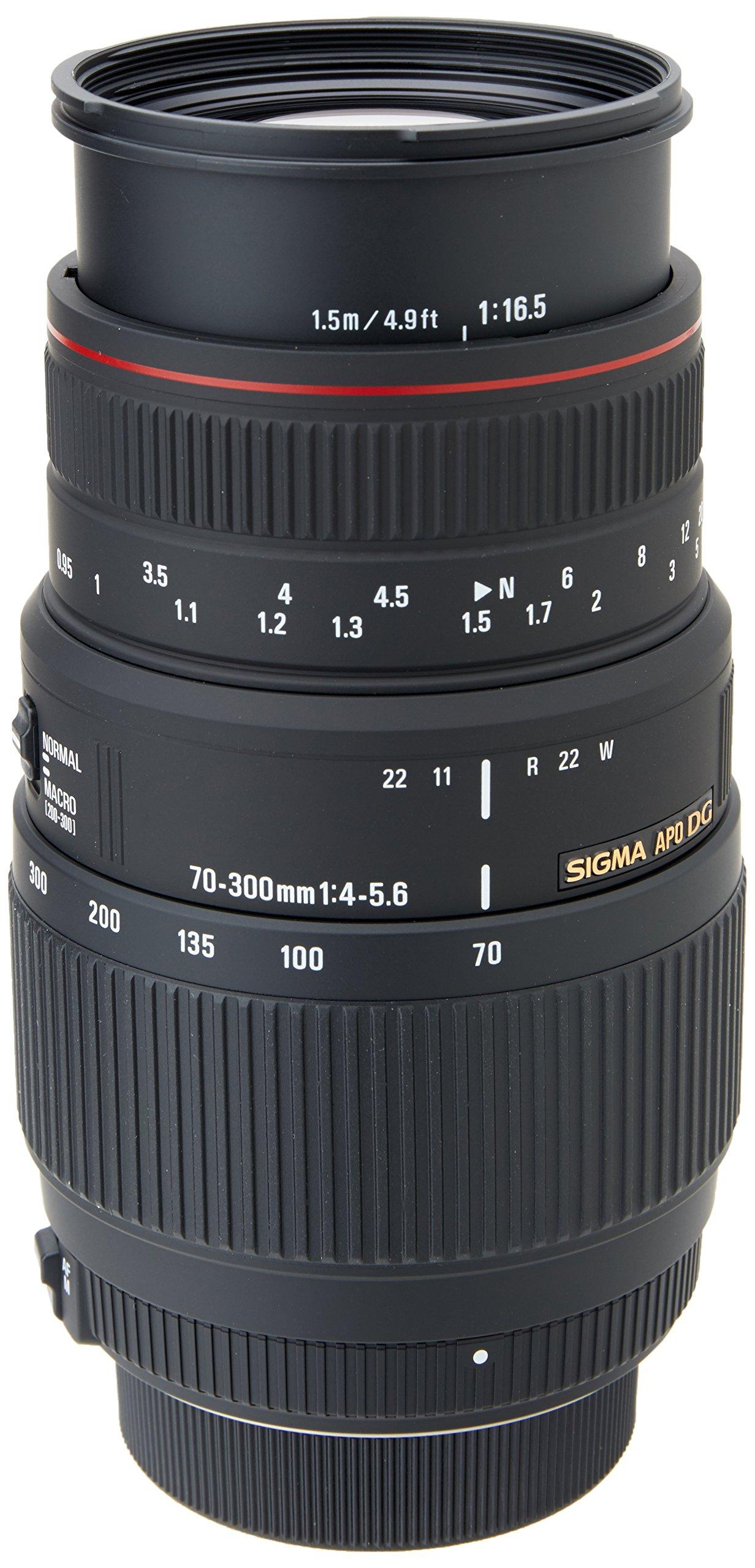 Sigma Obiettivo 70-300mm -F/4-5.6-AF APO DG  MOTOR DRIVE,Attacco NIKON