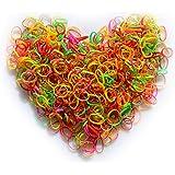 Ealicere 1000 Mini Multicolore Elastici Gomma Elastico Morbidi per Bambini Capelli, Trecce Capelli, Acconciatura da Sposa e d