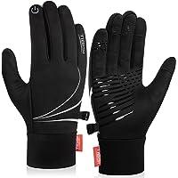 Benirap Warm Winter Gloves, Windproof Running Gloves Grip Cycling Gloves Touch Screen Gloves for Men Women Walking…