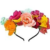 Talking Tables Boho Flower Headband   Mexican Luau Hawaiian Cuban Havana, Fabric, Mixed Colours, One Size