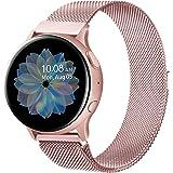 Senka 20mm Metal Correa Compatible con Samsung Galaxy Watch Active 40mm/Active2 40mm 44mm,Pulseras de Repuesto de Inoxidable