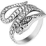 AeraVida Cobra Snake Coil Wrap Around .925 Sterling Silver Ring