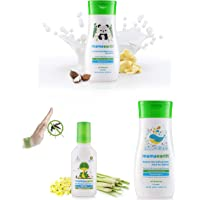 Mamaearth Daily Moisturizing Lotion, 200ml & Anti Mosquito Fabric Roll On, 8ml & Deeply Nourishing wash for Babies (200 ml, 0-5 Yrs) Combo