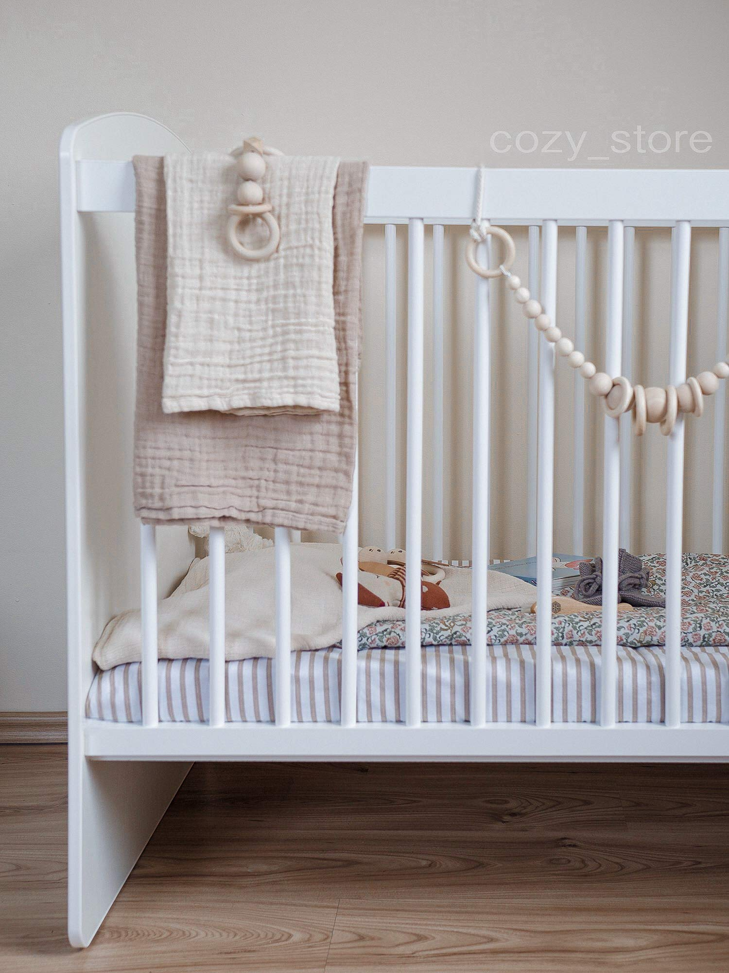 SOCOZY®   White Solid Pine Wood Baby Cot Bed I Free Healthy Coconut&BUCKWHEAT Mattress I Bed for Baby   3 Mattress Positions   ECO Paint   Minimalistic   120x60 SOCOZY ✔ HEALTH your growing child is the most important for us - The bed is made of ecological board and pine wood and the cot is covered with non-toxic lacquers ✔ ENJOY the view of the child playing in the cot and have a moment to yourself - as mom you deserve it more than anyone else ✔ GIVE YOUR CHILD a peaceful and helathy sleep - Coconut mat provides a flat, hard but also elastic support for the body while sleeping, perfect air circulation and humidity control. The mat is ecological. 5