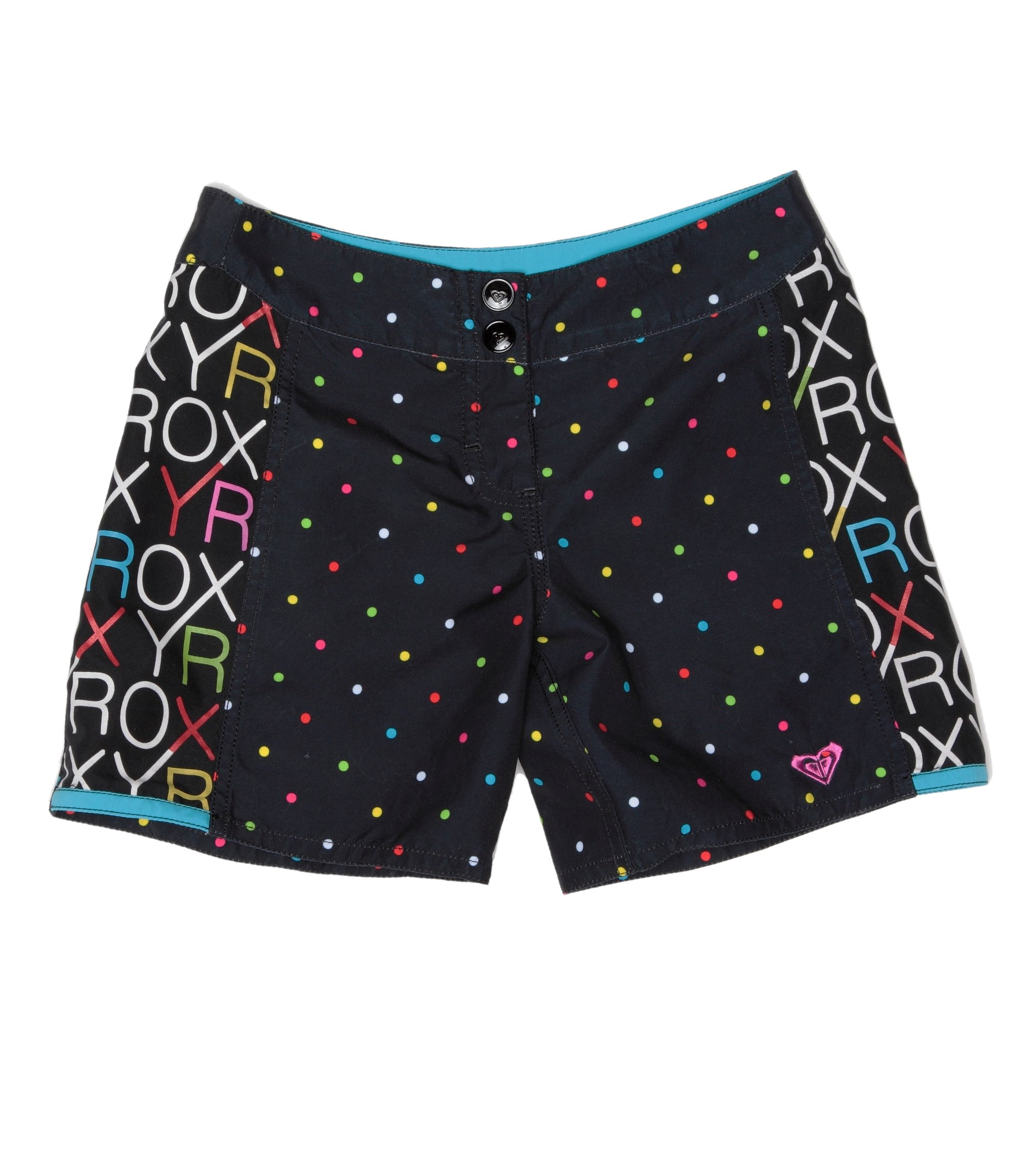 Roxy - XITBS074/RAINBOW, Pantaloncini da surf da ragazza, Stampa (Rainbow Black), 152