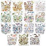 600pcs Autocollants Décoratifs Transparents, Stickers Scrapbooking, Autocollant Vintage Ensemble D'autocollants de Scrapbook