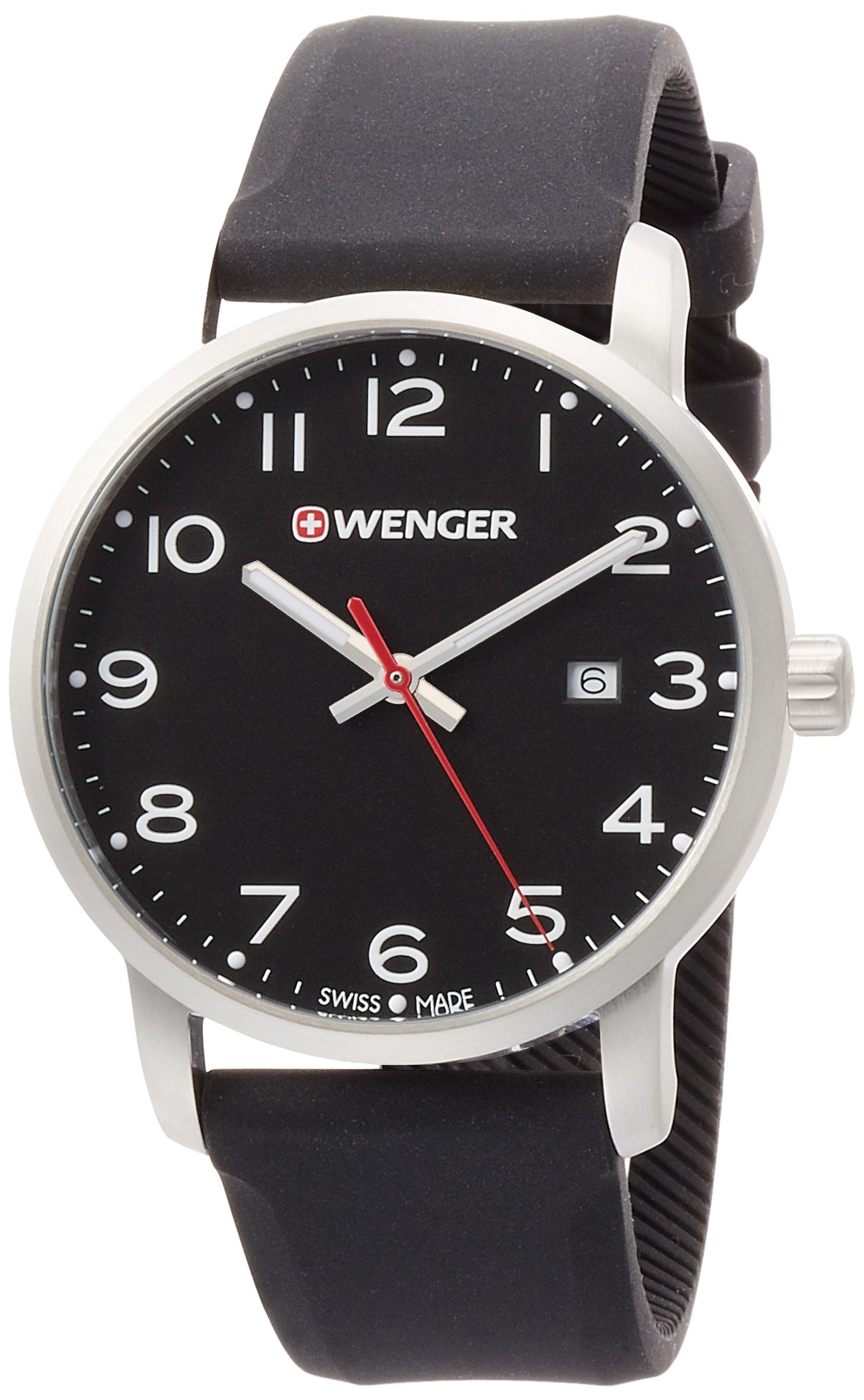 WENGER Unisex Analogue Quartz Watch with Silicone Strap 01.1641.101