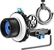 Neewer A-B Stop Follow Focus C2 with Gear Ring Belt for DSLR Cameras Such as Nikon,Canon,Sony DV/Camcorder/Film/Video Camera
