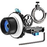 Neewer® A-B Stop Follow Focus C2 con Ruota Dentata per Fotocamera DSLR come Nikon,Canon,Sony DV/Camcorder/Film…