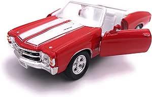 H Customs 1971 Chevelle Ss 454 Modellauto Auto Lizenzprodukt 1 34 1 39 Rot Auto