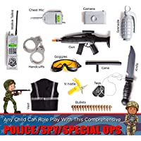 Vibgyor Vibes Pretend Play Police Costume for Kids | Real Heros with Toy Role Play Spy/cop/Police Kit