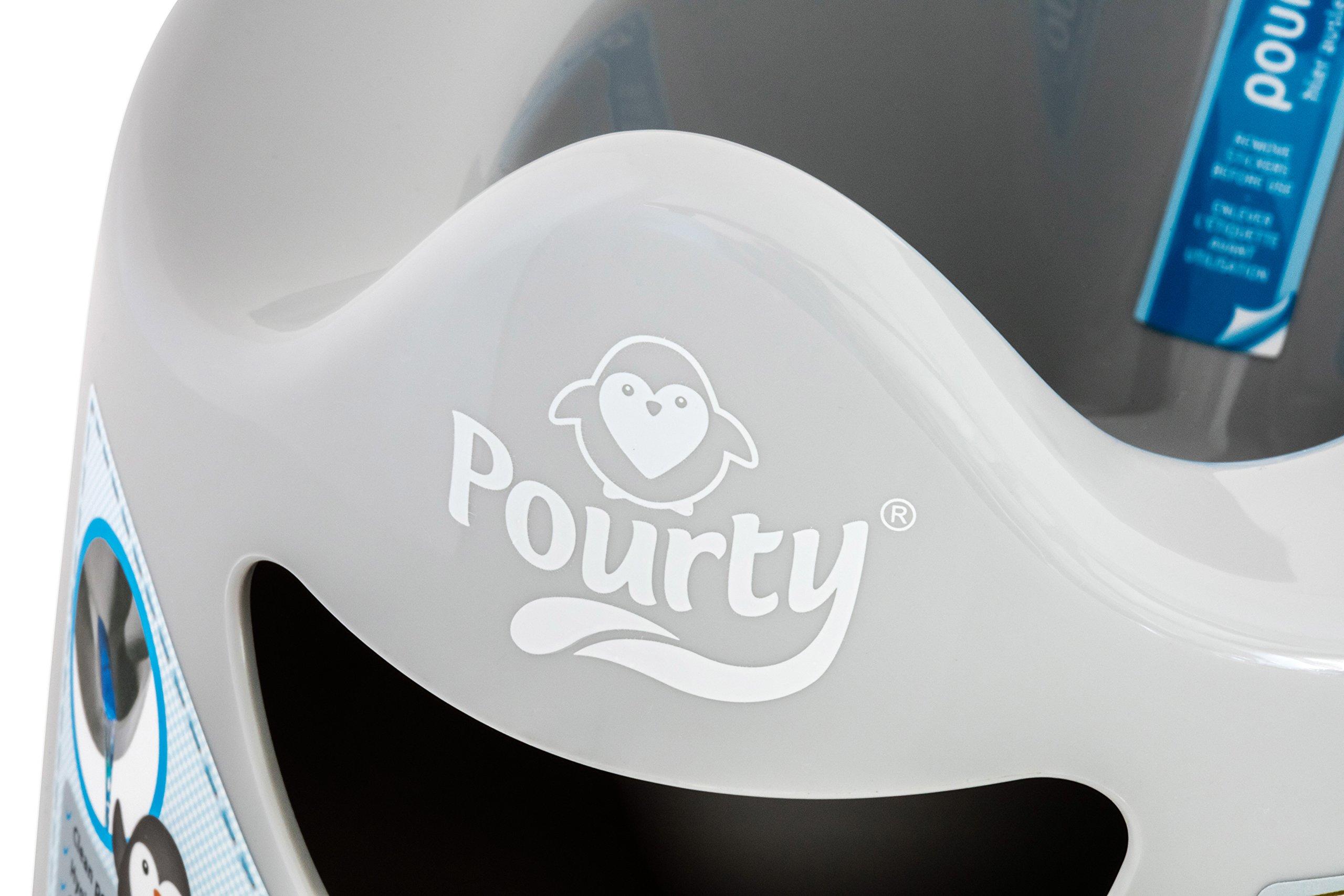 Pourty Easy-to-Pour Potty (Penguin Grey)