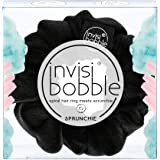 invisibobble SPRUNCHIE, True Black - Spiral Hair Ring meets Scrunchie, No Knink, Strong Hold, Stylisches Armband, 90er…