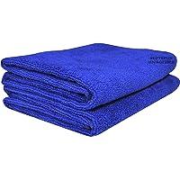 SOFTSPUN Microfiber Hair and Face Care Towel 340 GSM (Set of 2, Blue)