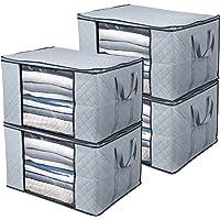 BoxLegend Sac de Rangement sous lit, Kit 4 Pcs Sacs de Rangement pour Couette Édredons Couvertures Oreillers Jouets…