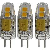 3x stk. G4 mini LED 1,5 Watt 12 V AC/DC dimbaar warm wit van siliconen (silica gel) lamp lamp lamp halogeneret voor dimmer