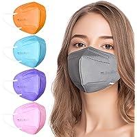 AHOTOP FFP2 Masken Bunt FFP2 Maske CE Zertifiziert 5 Farben 20 Stück, FFP2 Maske Grau, Blau, Rosa, Lila, Orange…