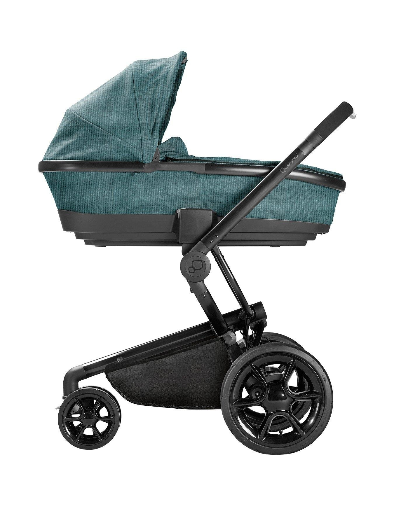 Quinny Quinny Moodd Pushchair, Foldable Carrycot, Pebble Car Seat Package - Novel Nile Quinny  4