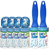 Household Essentials 79120-1 Cedar Fresh 2 Pack Lint Rollers | Remove Pet Hair and Dust | Includes Two Rollers with 4 Refills