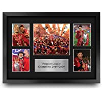 HWC Trading A3 FR Liverpool Premier League Champions 2019/2020 Display Signed Gift FRAMED A3 Printed Autograph Football…