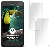 2X Motorola Moto C Plus | Schutzfolie Matt Display Schutz [Anti-Reflex] Screen Protector Fingerprint Handy-Folie Matte Displayschutz-Folie für Motorola Moto C Plus Displayfolie