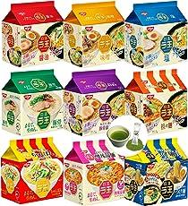 Nissin Raoh Instant Noodles Japanese Ramen 9 Tastes and Matcha Drink set (9pcs×approx100g)