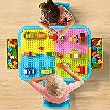 burgkidz Ensemble Table et Chaise d'Activités pour Enfants, 135 Gros Morceaux de Construction Table pour Garçons et Filles 3