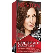 Revlon ColorSilk Tinte de Cabello Permanente Tono #37 Castaño Dorado Oscuro