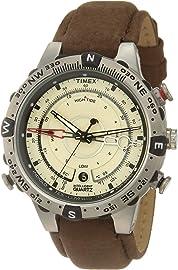 Timex Intelligent Quartz Compass Chronograph Off White Dial Men's Watch   T2N721