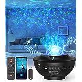 LED-Sternenhimmel Projektor,Rotierendes WasserwellenproJektorlicht,Ferngesteuertes Nachtlicht,Farbwechselnder Musikplayer mit