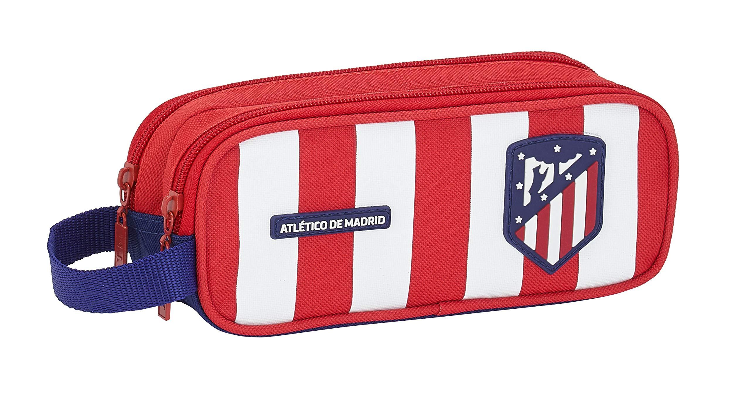 Atlético de Madrid Estuche portatodo Triple Escolar