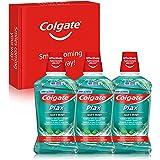 Colgate Plax Multiprotección, Enjuague Bucal, Protección 24H, Antibacteriano, Sin Alcohol, Pack 3 Uds x 500ml