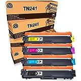 FITU WORK TN241 TN245 Sostituzione per Brother TN241 TN245 Toner Compatibile con Brother DCP-9020CDW DCP-9015CDW HL-3140CW HL