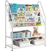 Bibliothèque sur pied pour enfants - 5 étages - Armoire de rangement - Organisateur de jouets - Pour chambre d'enfant…